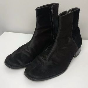 Gucci Brown Pony Hair Ankle Booties Rare Vintage